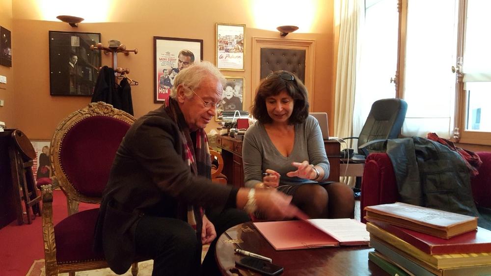 ernard Murat et Panchika Velez pour la signature de l'accord 2016 entre le SNMS et le SNDTP
