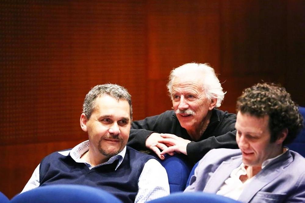 Jean-Paul Tribout à L'assemblée Générale 2016 entouré de Xavier Lemaire et Tristan Petitgirard