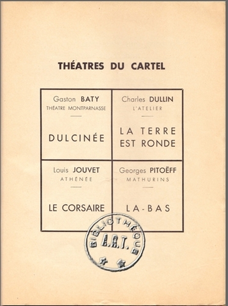 Actualité du Cartel 1938 (Archives ART)