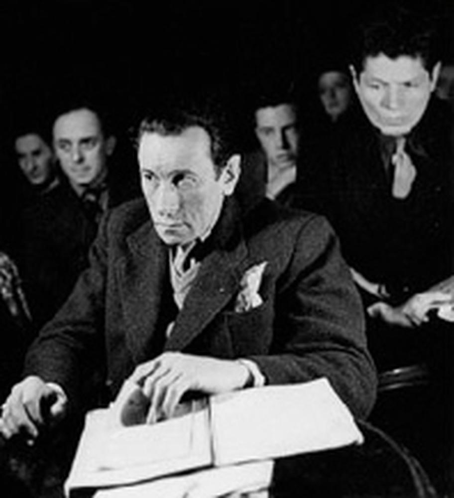 Dullin professeur, derrière lui Alain Cluny