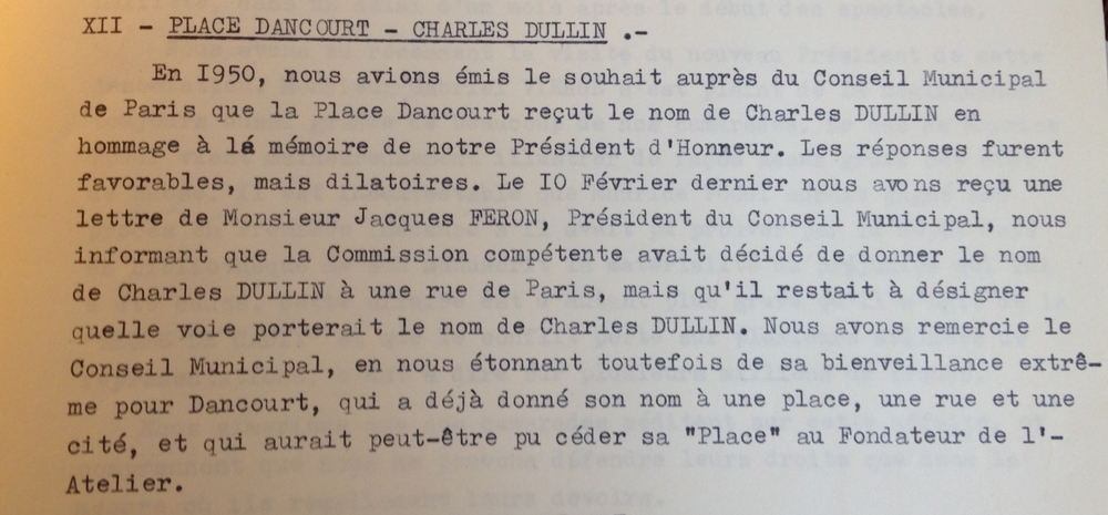 Extrait du rapport moral de l'assemblée générale du SNMS de 1950