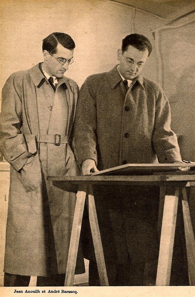 Jean Anouilh et André Barsacq