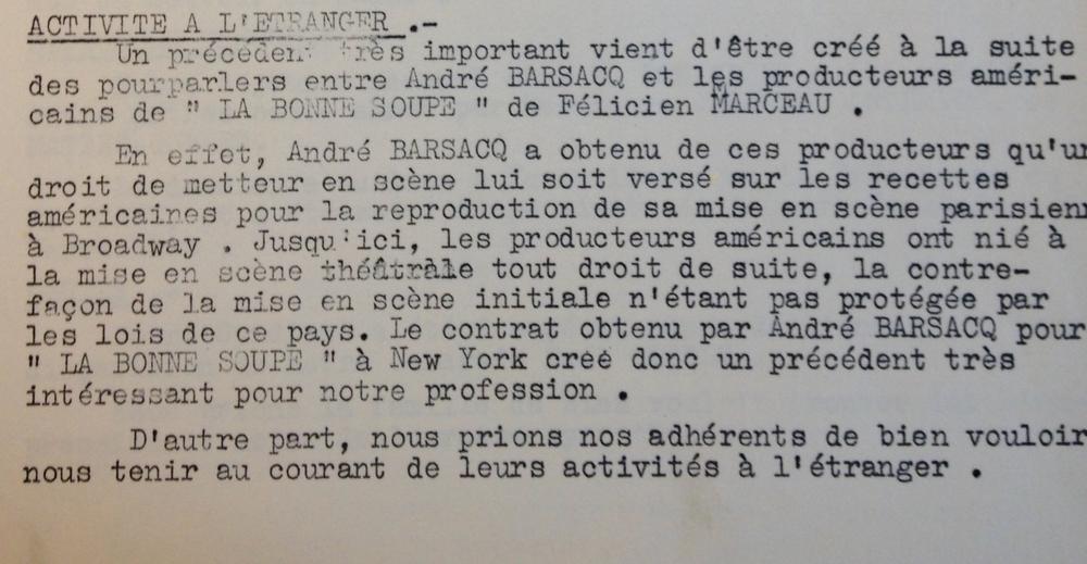 Extrait du rapport moral de l'assemblée générale du SNMS de 1959