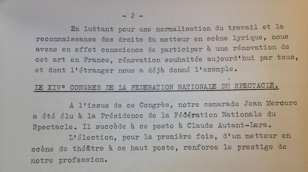 Rapport Moral de l'assemblée générale du SNMS de 1962