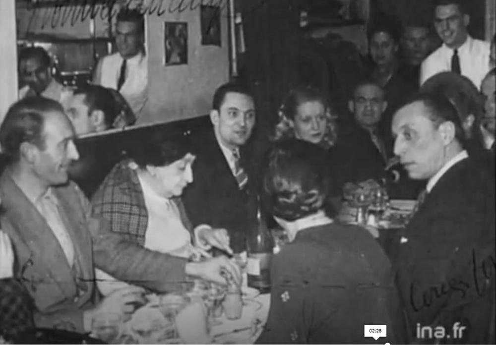 Jean Vilar, Marguerite Moreno, Louis Jouvet