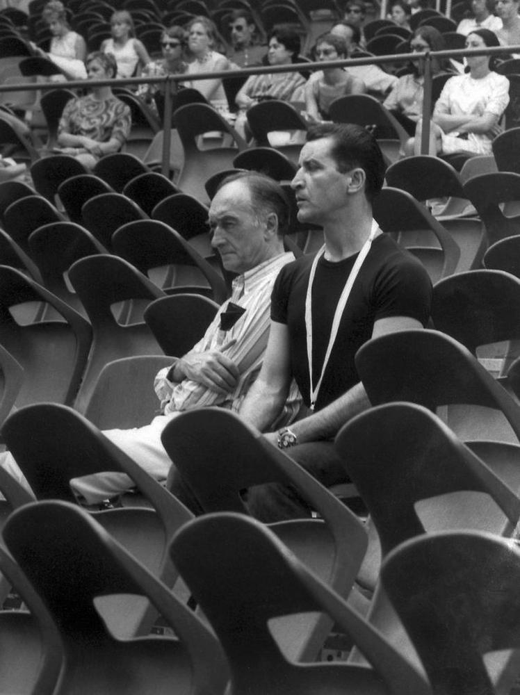 Jean Vilar et Maurice Béjart
