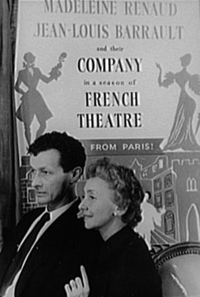 Jean-Louis Barrault et Madeleine Renaud à New York