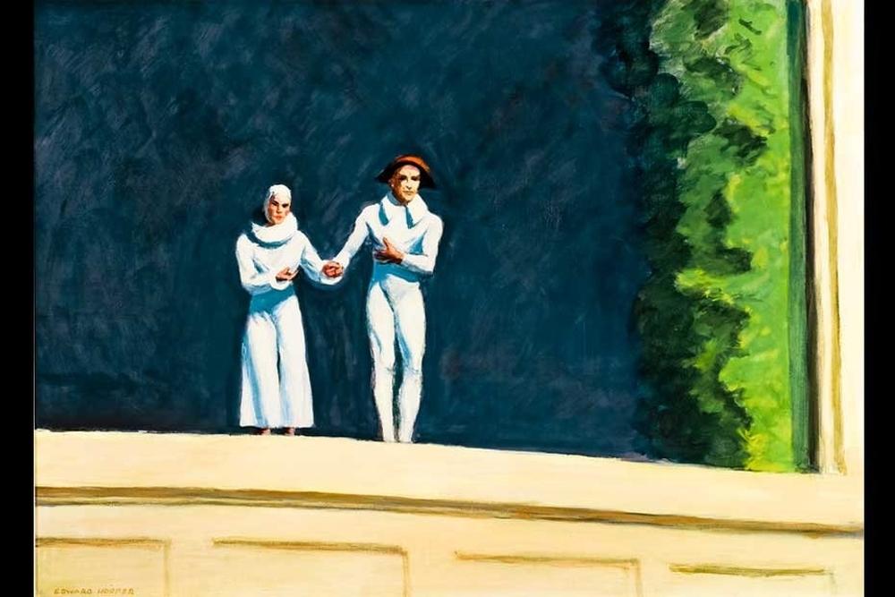Tableau de Hopper pour les adieux de l'artiste et de sa femme qu'il a peint juste avant sa mort