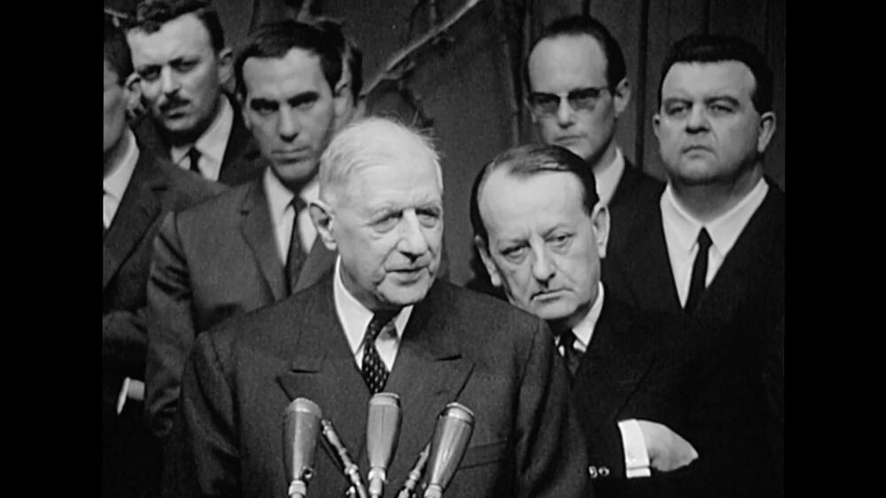 Le Général de Gaulle, André Malraux à l'inauguration de la Maison de la Culture de Bourges