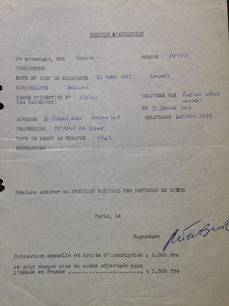 Bulletin d'adhésion au Syndicat