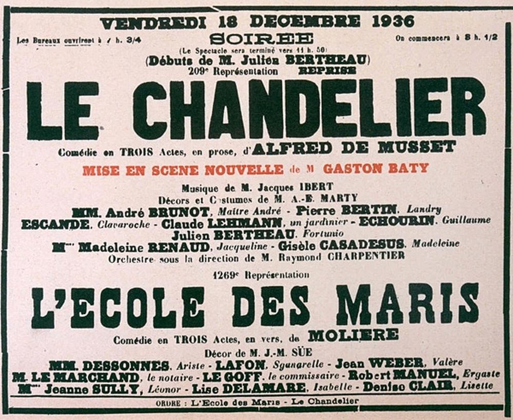 Affiche du « Chandelier »
