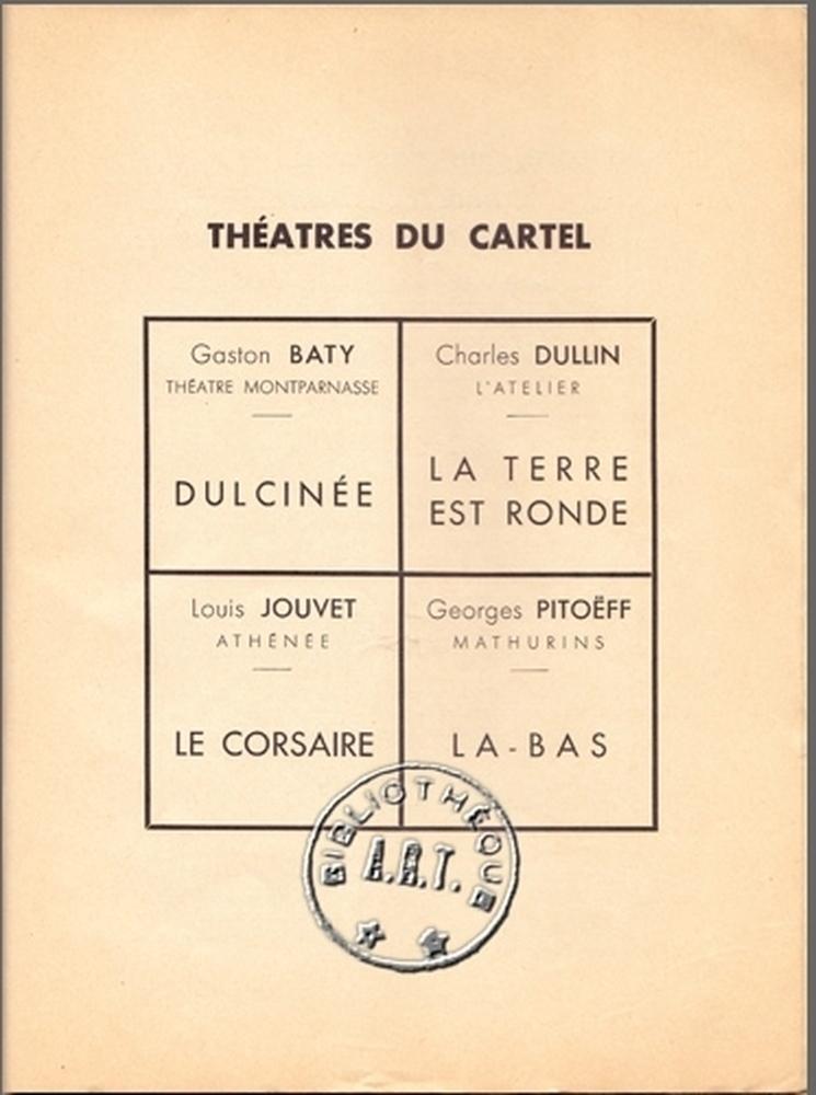 « Actualité du Cartel 1938 »