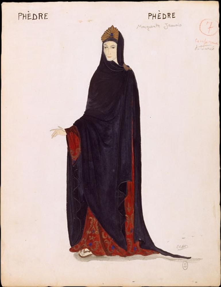 Phédre maquette costume Marguerite Jamois par Marie-Hélène Dasté